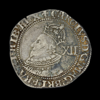 Charles Ist Tower Mint Shilling Group A Rare Variety