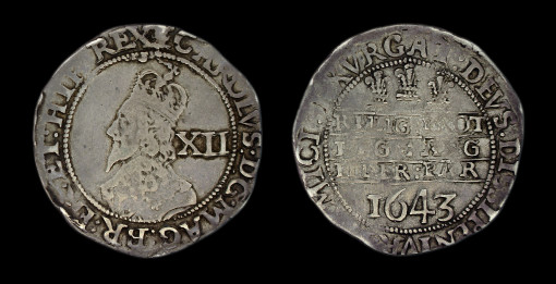 Charles Ist Shilling Oxford Declaration 1644
