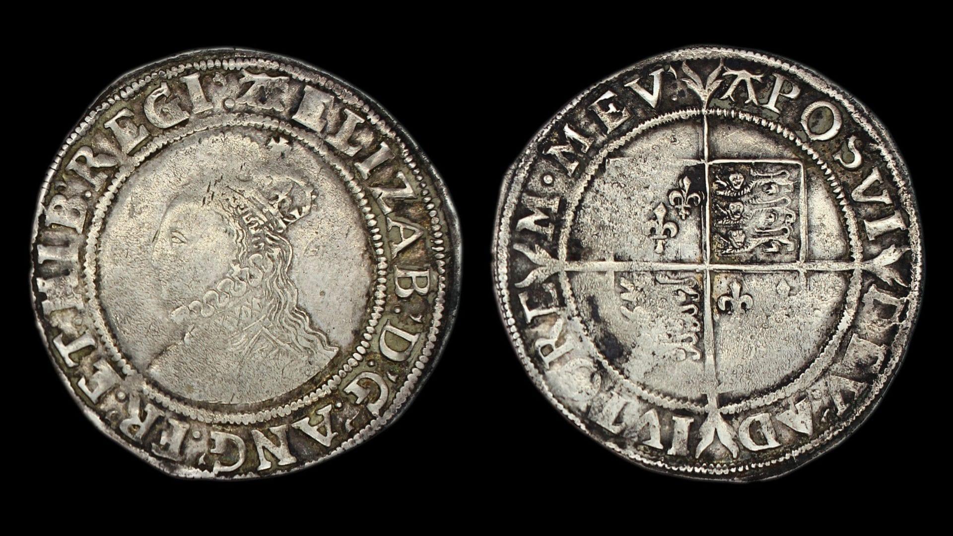 Elizabeth Ist Shilling Sixth Issue 1582-1584