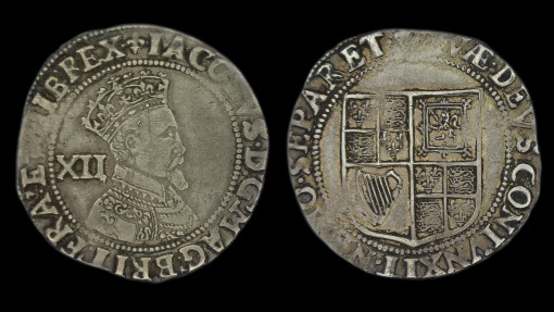 James Ist Shilling Second Coinage Third Bust