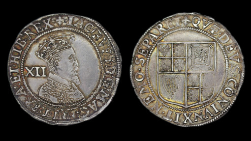 James Ist Shilling, Second Coinage, Third Bust