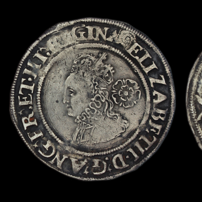 Elizabeth Ist Sixpence, third issue