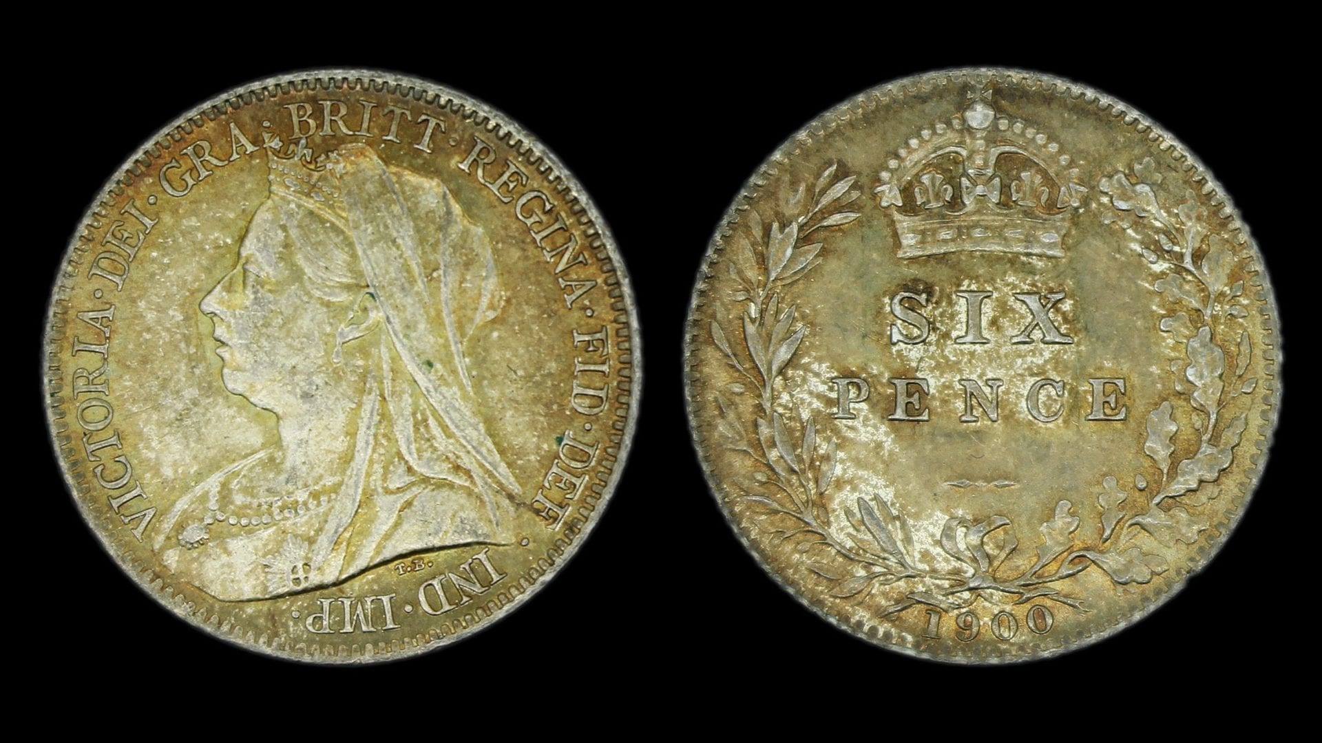Queen Victoria Sixpence 1900