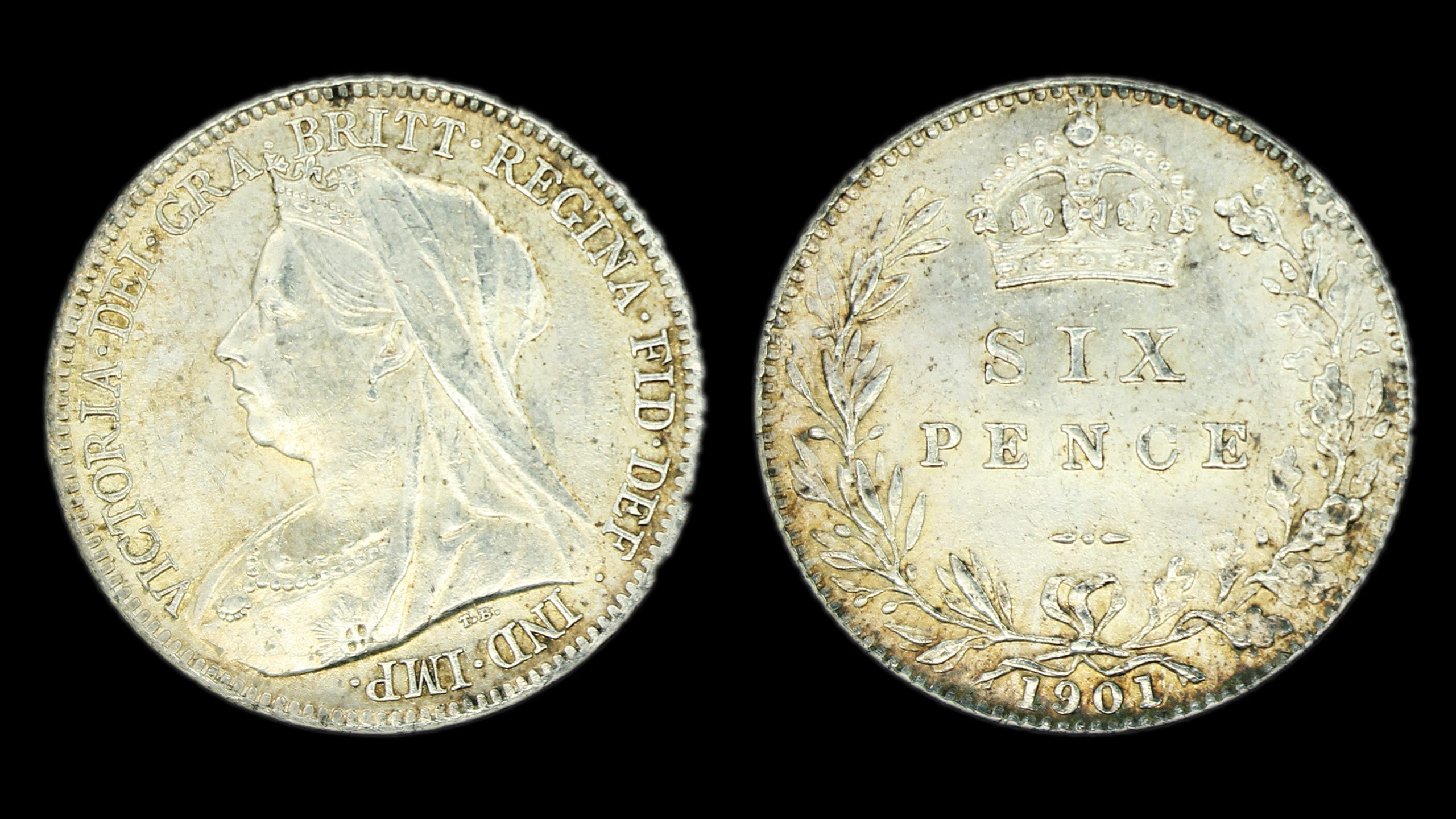 Queen Victoria Sixpence 1901
