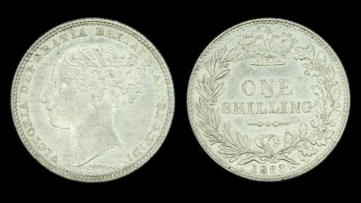Victoria Young Head Shilling 1883