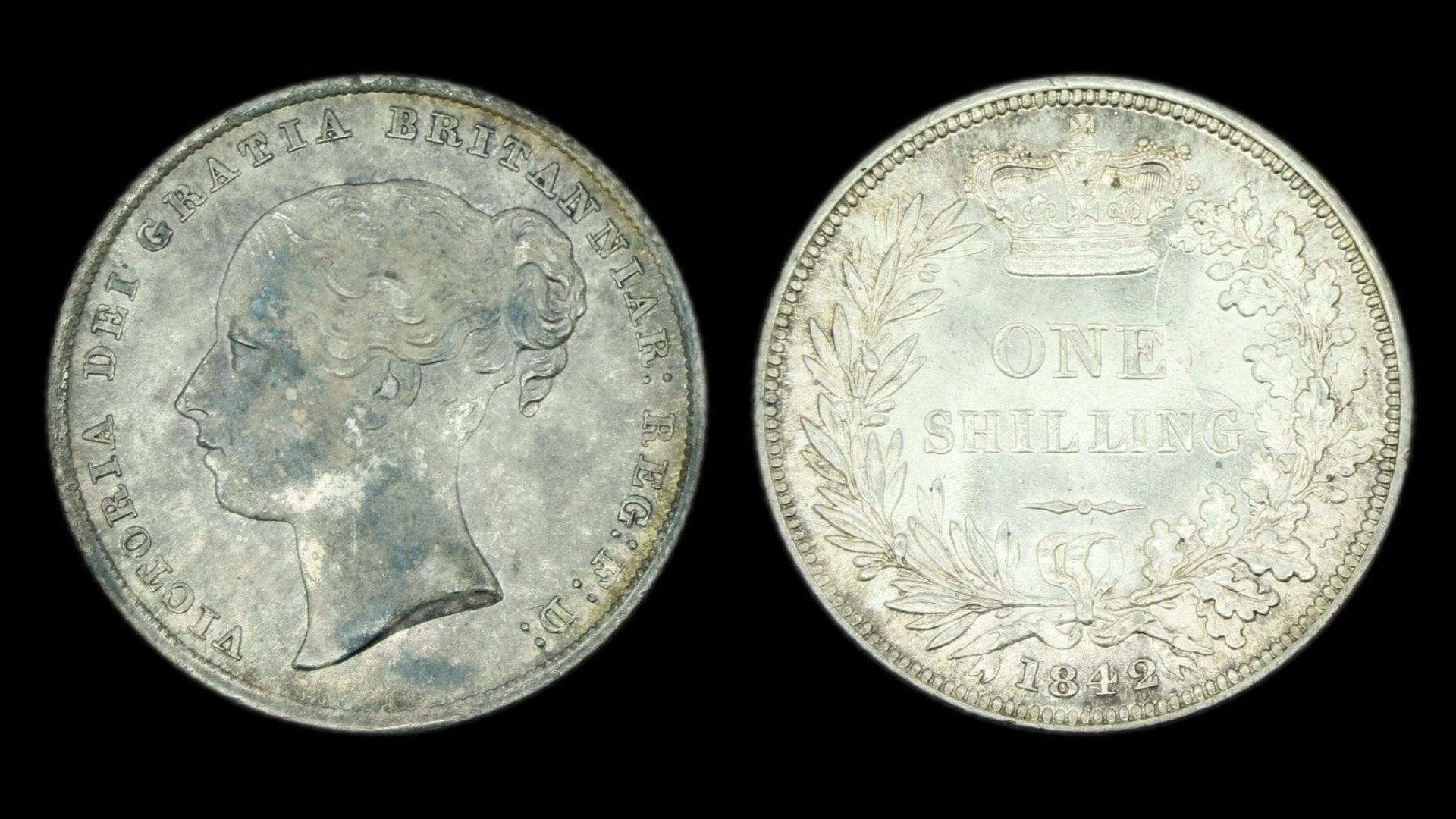 Victoria 1842 Shilling