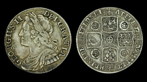 George II Young Head Shilling 1739