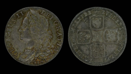 George II Old Head Shilling 1745