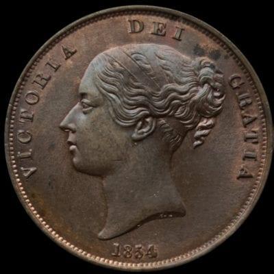 Victoria (1837-1901), Penny, 1854,