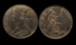 Victoria (1837-1901), Bronze penny, 1863,