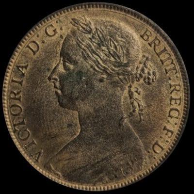 Victoria (1837-1901), bronze Penny, 1887
