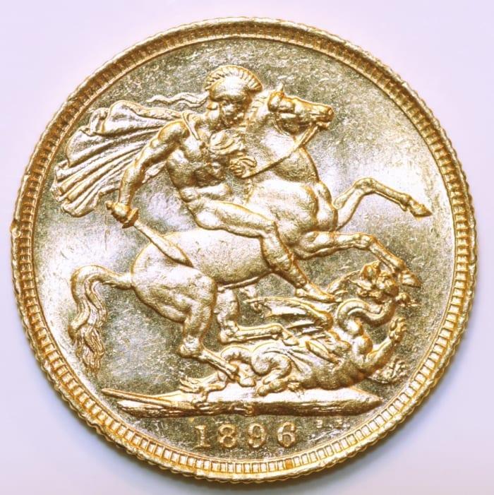 Victoria Vail Head Sovereign 1896 Sydney - GM Coins