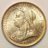 Victoria Vail Head Sovereign 1896 S