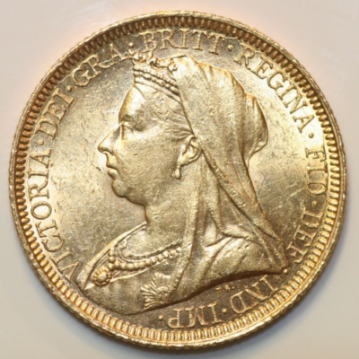 Victoria Vail Head Sovereign 1896 S