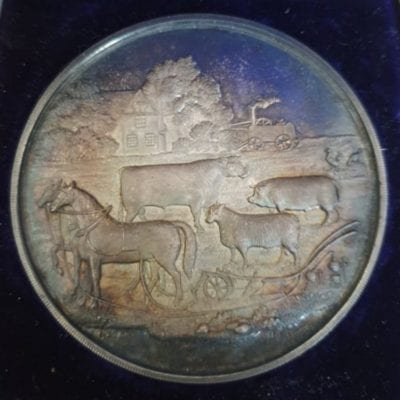 Worcestershire Agricultural Society Medal unengraved