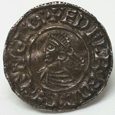 Aethelred II (978 – 1016 AD) Last Small Cross Type Penny; London, Godwine