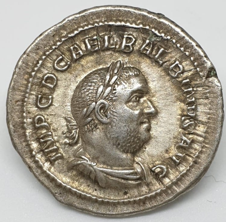 Balbinus 238AD Silver Denarius struck in Rome, Laureate, draped and cuirassed bust right