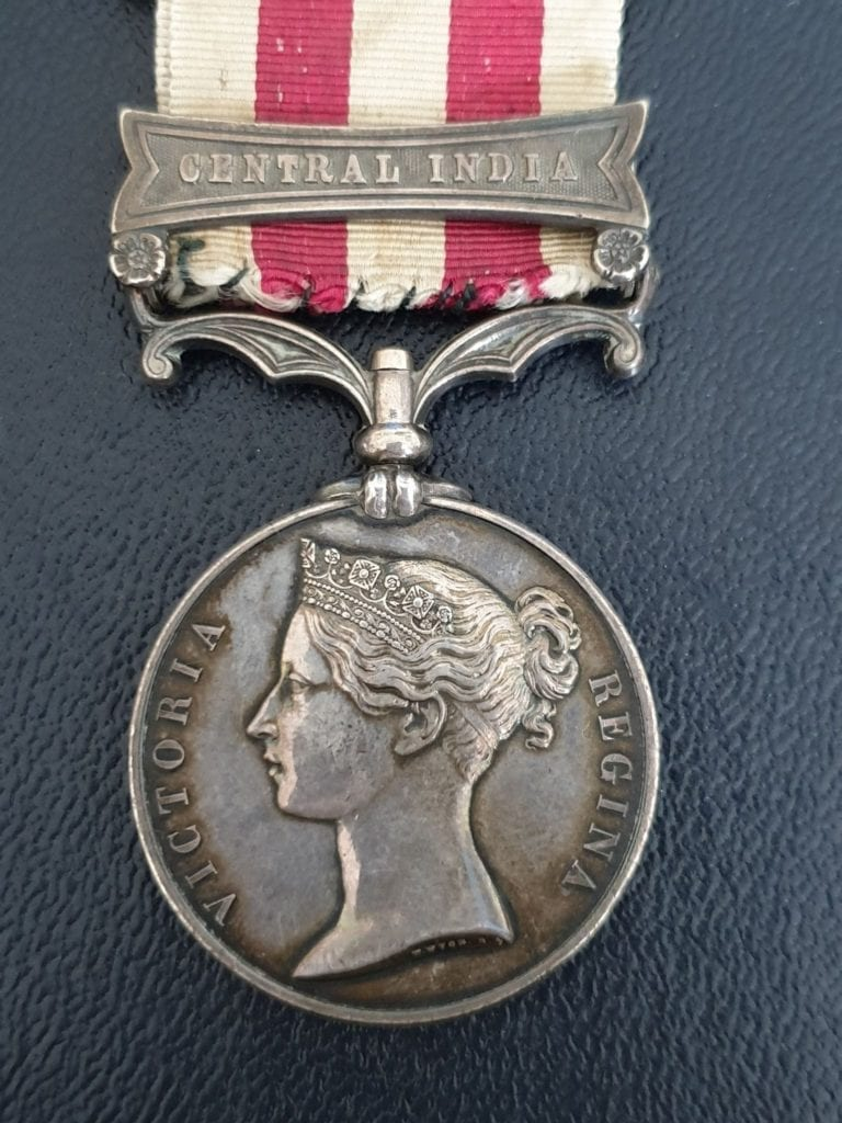 India Mutiny Medal, Cental India Bar, 72nd Highlanders, sergeant William Orr