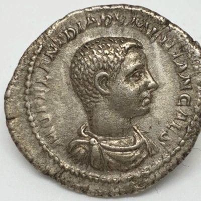 Diadumenian Caesar AD 217-218, silver Denarius, struck at Rome