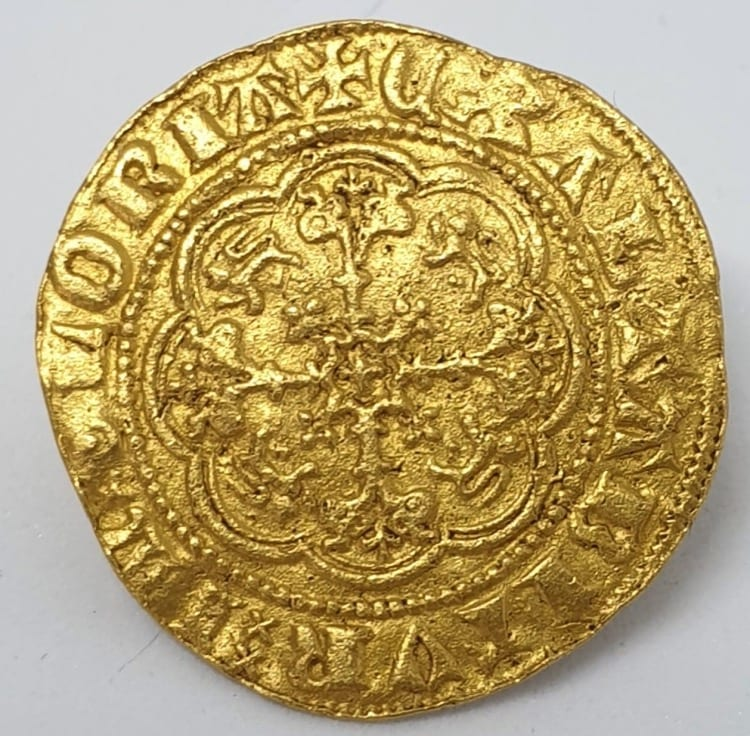 Edward III (1327-1377), gold Quarter-Noble, fourth coinage, Treaty period (1361-69)