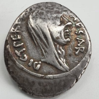 Roman Imperators, Julius Caesar, Silver Denarius, minted in Rome, Lifetime Issue, Feb-March 44 BC. P Sepullius Macer, moneyer
