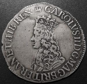 Charles II 1st Issue, Hammered Sixpence