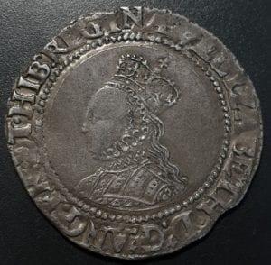 Elizabeth I Shilling, second issue, 1560-1, m.m. cross crosslet