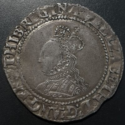 Elizabeth I Shilling, second issue, 1560-1, m.m. cross crosslet
