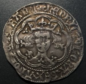 Henry V 1413 - 22, London mint, class Cb groat