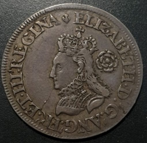 Elizabeth I Sixpence, 1568, milled coinage, 1561-70, m.m. lis, small crowned bust