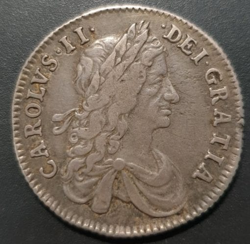 Charles II (1660-85), Shilling, 1663, first draped bust variety