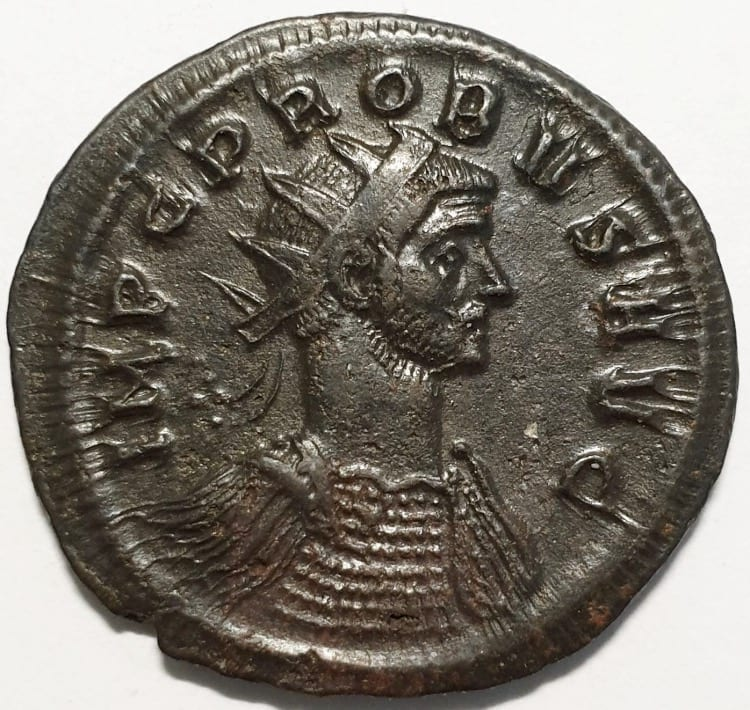 Probus billon antoninianus, IMP C PROBVS AVG, radiate, cuirassed bust right