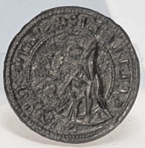 A Medieval (late 13th to early 14th century) seal matrix