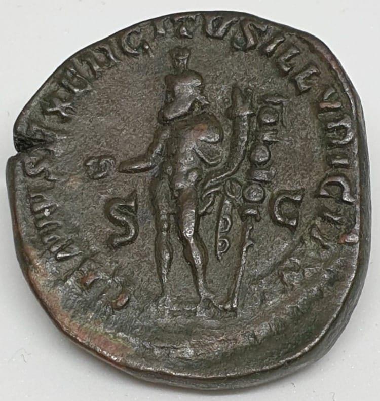 Trajan Decius Sestertius Ilyricum, AD 249-251 Genius of the Army of Illyricum