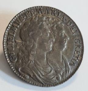William & Mary Half Crown 1690 legend error GRETIA instead of GRATIA