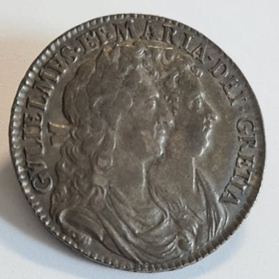 William & Mary Half Crown 1690 legend error GRETIA instead of GRATIA